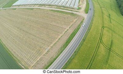 Aerial of a Highway - Aerial video footage of a highway in...