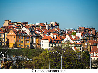 Old Town, Warsaw, Poland - Old Town by the river Vistula...