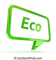 Speech Bubble Eco