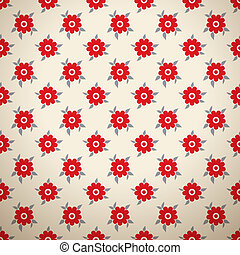 Floral fashionable vector seamless patterns (tiling)
