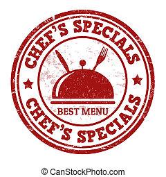 Chef's specials stamp - Chef's specials grunge rubber stamp...