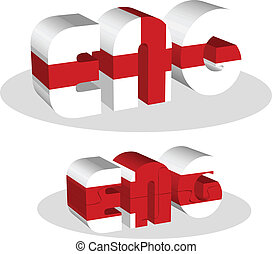 England Flag in puzzle - Vector illustration of England Flag...