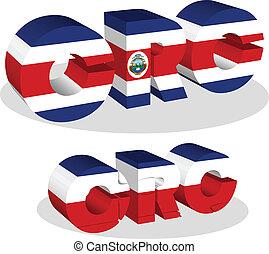 Costa Rica Flag in puzzle