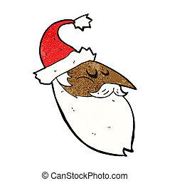 cartoon santa face