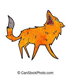 cartoon snapping fox