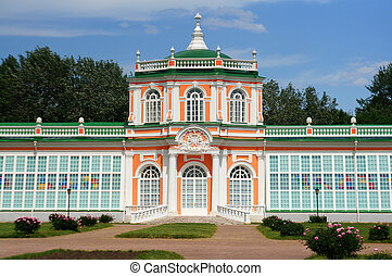 "Construction of ""Greenhouse"" (Kuskovo Estate near Moscow)"
