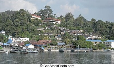toba lake - scenery of toba lake at medan, north...