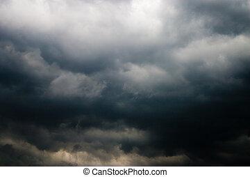heavy cloud - nature series: heavy gray storm rain cloud