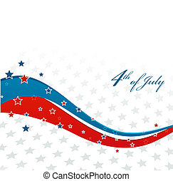 American Independence Day Patriotic background Vector...