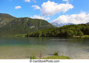 Lake Bohinj - Mountain Lake bohinj in Julian Alps, Slovenia