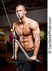 Healthy and fit - Portrait of a muscular strong young man...