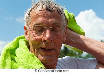 Elderly sportsman - elderly senior sportsman