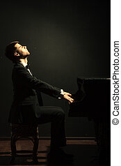 jugador,  piano, músico, Música, clásico