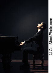Piano classical music musician player Pianist with musical...