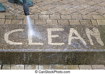 High Pressure Cleaning - 08 - Outdoor floor cleaning with...