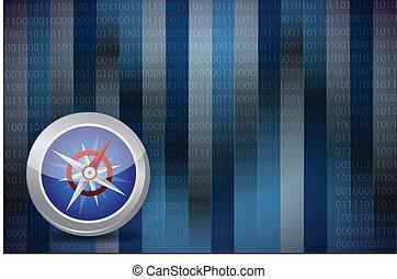 compass illustration design