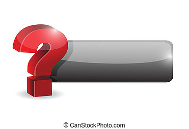 question mark sign button illustration design