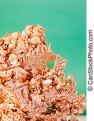 Barrel copper metallic crystals mineral rock - Native copper...