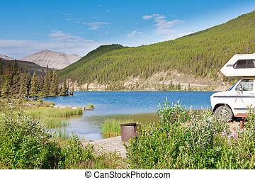 Camping van RV parks summit lake campground - Camper van...