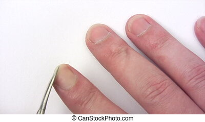 Clipping Fingernails - Canon HV30. HD 16:9 1920 x 1080 @...