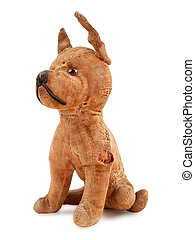 Vintage toy dog - vintage toy dog, stuffed with straw,...