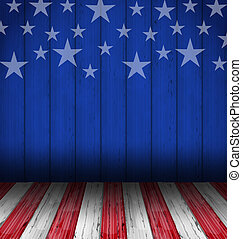 USA style background, empty wooden table - Illustration USA...