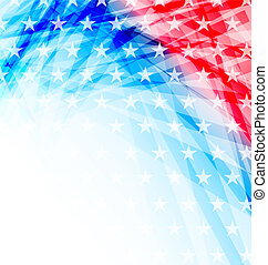Abstract American Flag for Independence Day - Illustration...