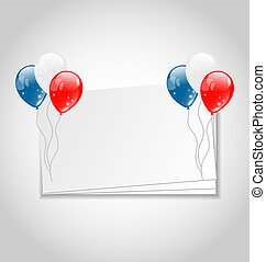 Celebration card with balloons for Independence Day -...