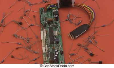 Electronic circuit board - Close up of an electronic circuit...