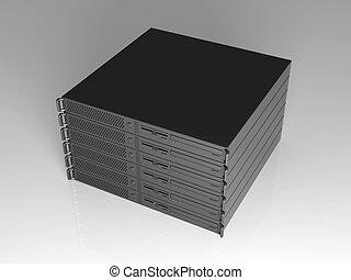 19inch Server Stack - 3D rendered Illustration.
