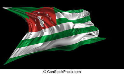 Flag of Abkhazia - Beautiful 3d animation of the Abkhazia...