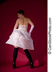 naughty girl - people series: girl on the white clothes and...