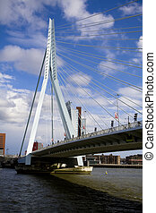 Erasmus Bridge in Rotterdam - Erasmus Bridge the city of...