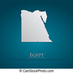 vector Egypt Map card paper