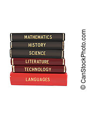 School subject books - School subjects textbooks like...