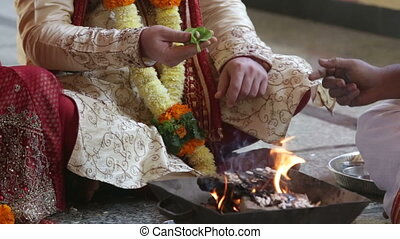 widding ceremony fire food