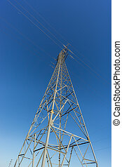 Electric tower - Entire electric tower ultra wide angle view...