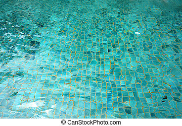 green pool water - Bright green clear water in the wave pool...