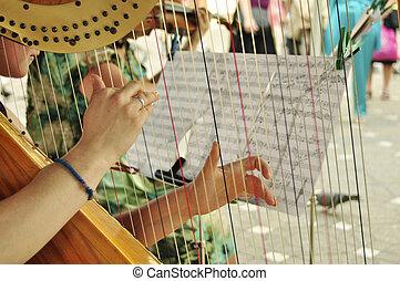 jogador, harpa