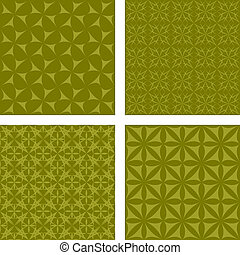 Olive seamless background set - Olive seamless pattern...