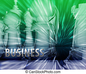 Abstract business strategy management chess themed...