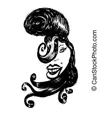 Amy Winehouse caricature - Cartoon caricature of the British...