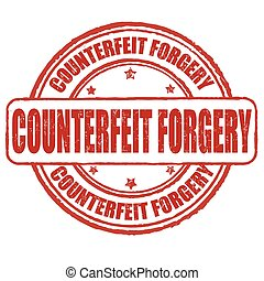 Counterfeit forgery  stamp