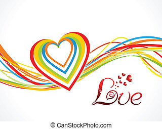 abstract colorful love wave background vector illustration