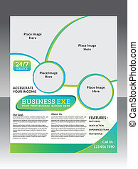 abstract business flyer vector illustration