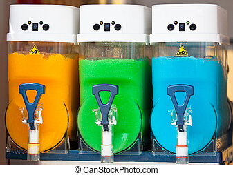 Crushed Fruit Ice Drink Dispensers