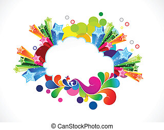 abstract colorful explode background vector illustration