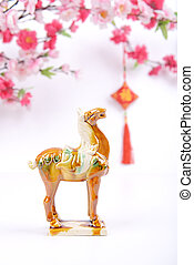 Ceramic horse souvenir,traditiona l chinese calligraphy art...