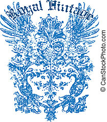 Heraldic wing design for your label