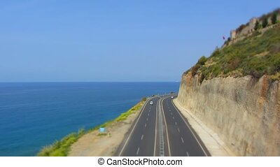 Highway time lapse - Highway near the coast in Turkey, time...